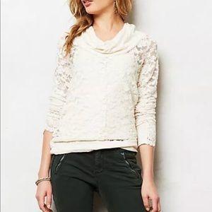 Anthropologie $68 Lace cowl neck blouse Lilka M